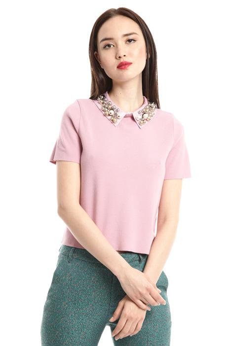 Top con colletto gioiello Fashion Market