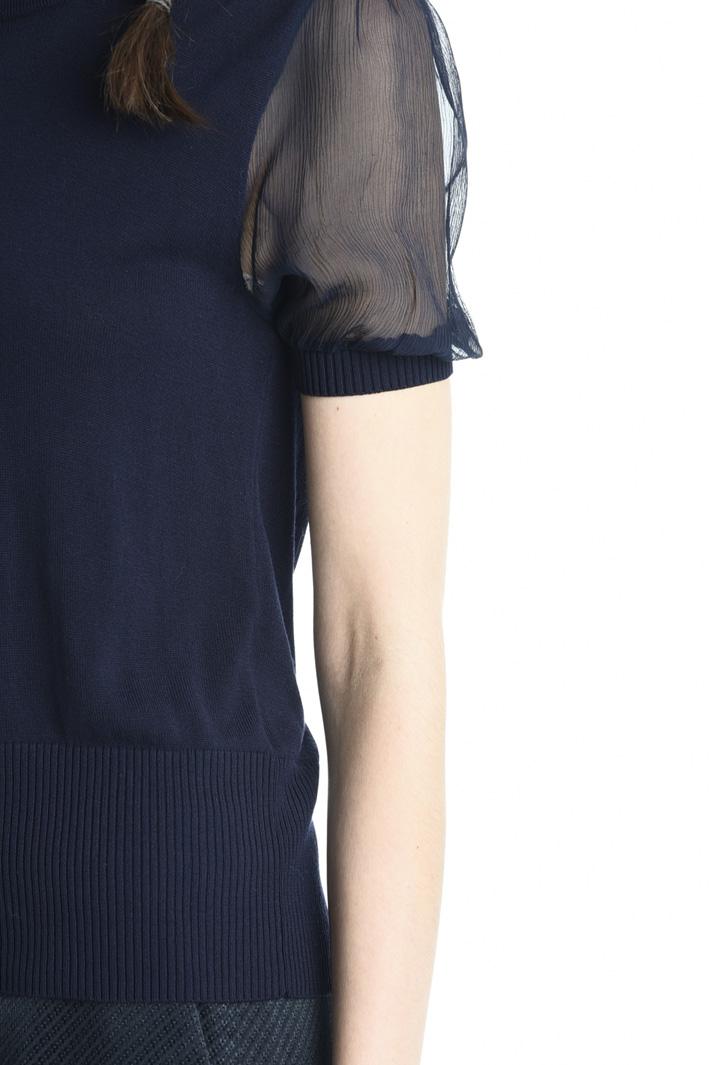 Maglia con manica in seta Fashion Market