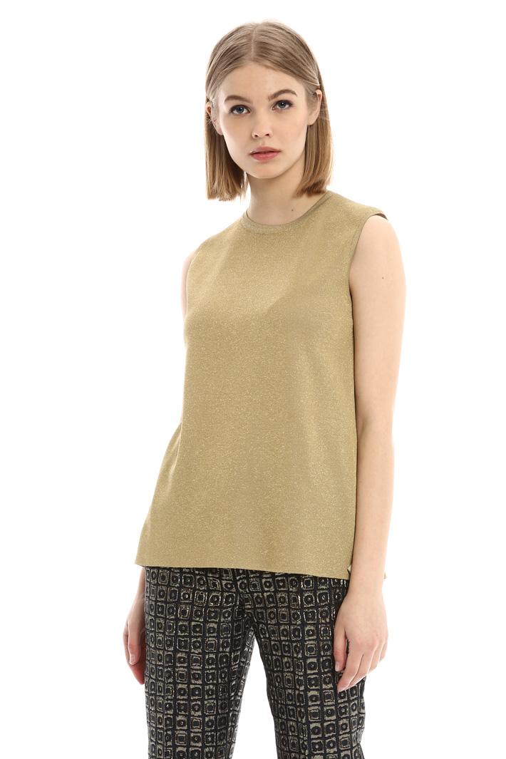 Top senza maniche in lurex Fashion Market