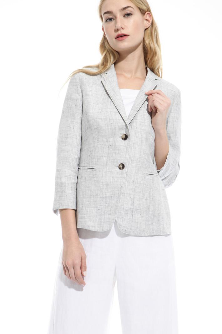 Blazer in lino fiammato Fashion Market