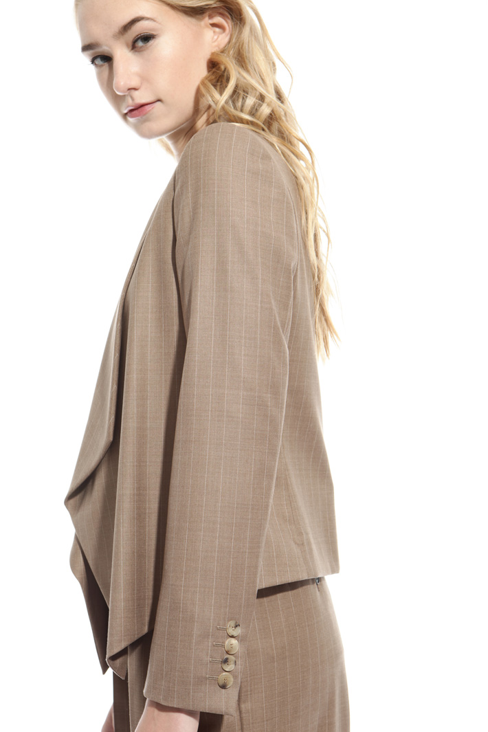 Giacca gessata in lana Fashion Market