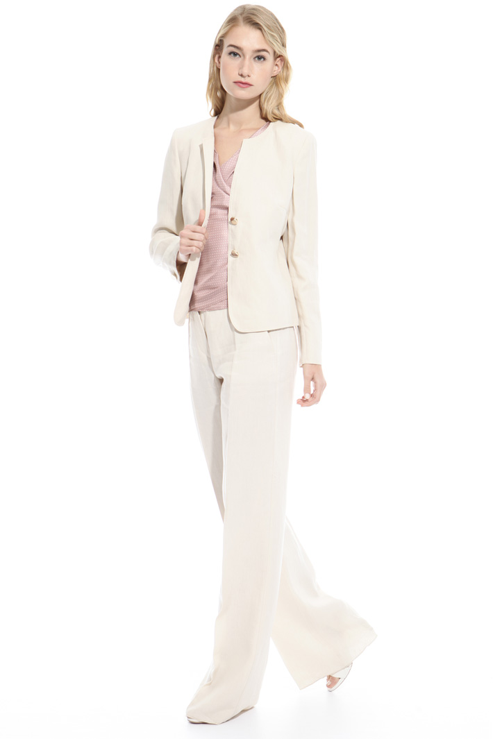 Giacca in tela di lino Fashion Market