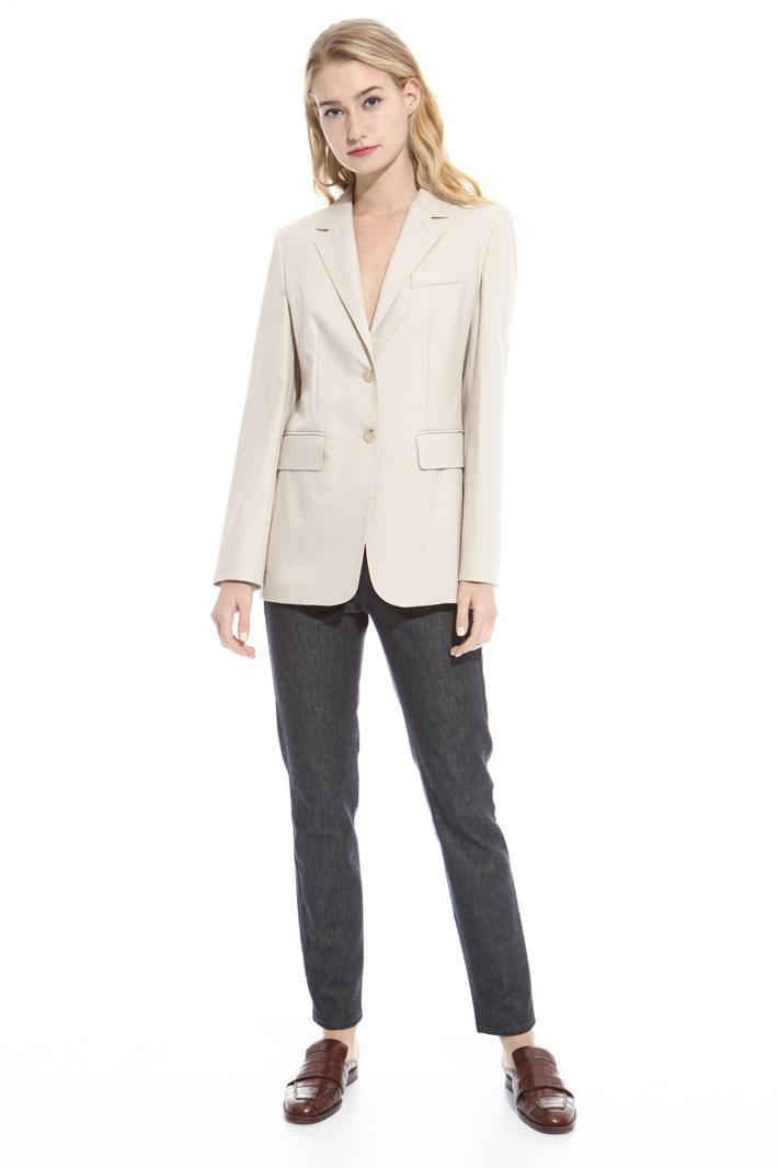 Blazer in twill di puro cotone Fashion Market