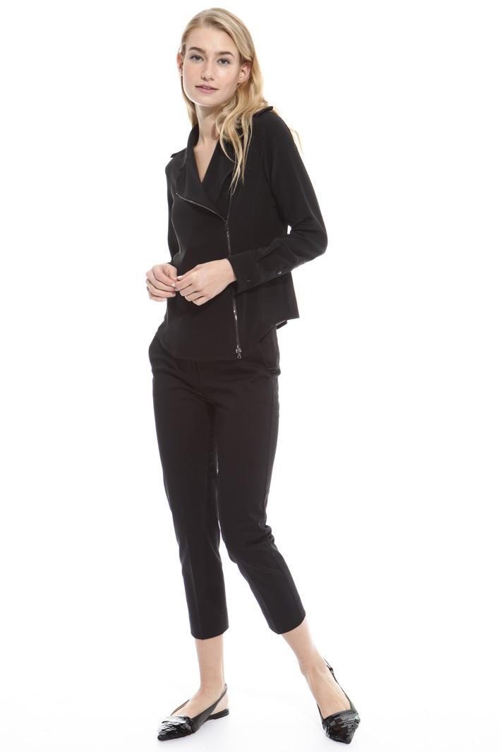 Camicia in seta con zip Fashion Market