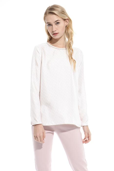 Blusa in twill stampato Fashion Market