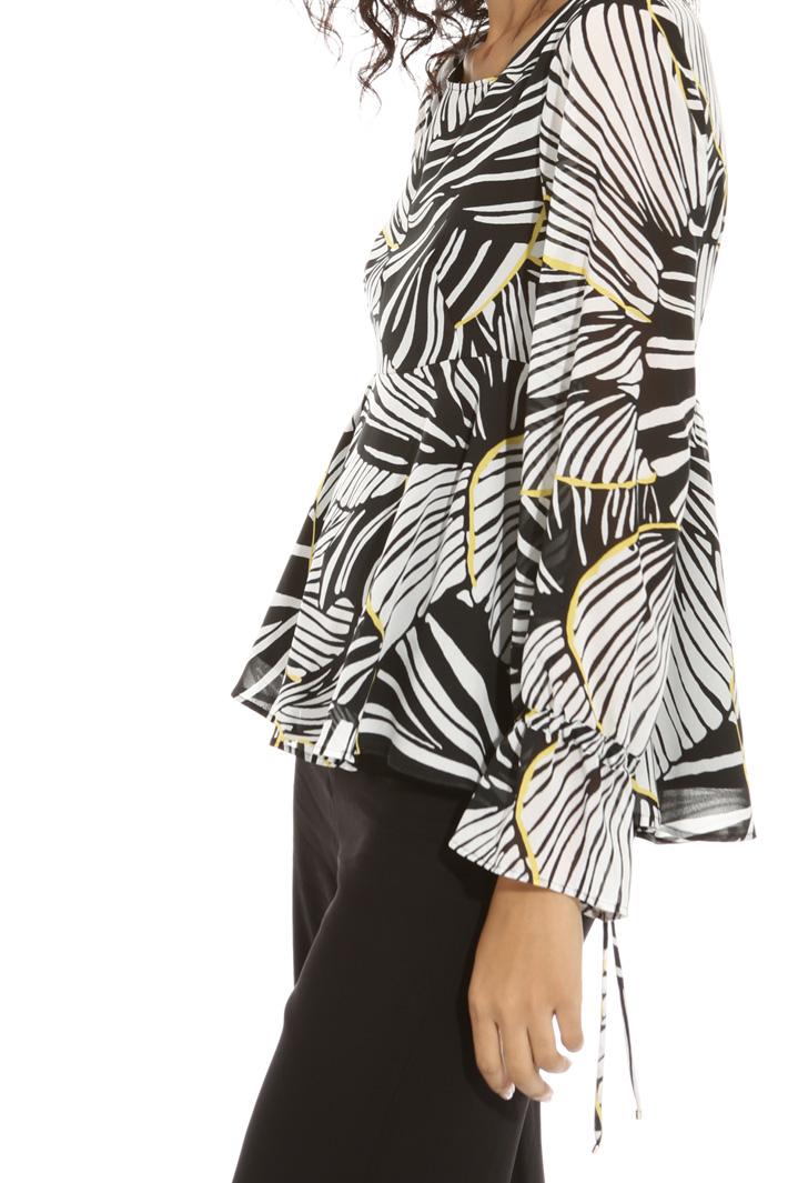 Blusa peplo in georgette Fashion Market