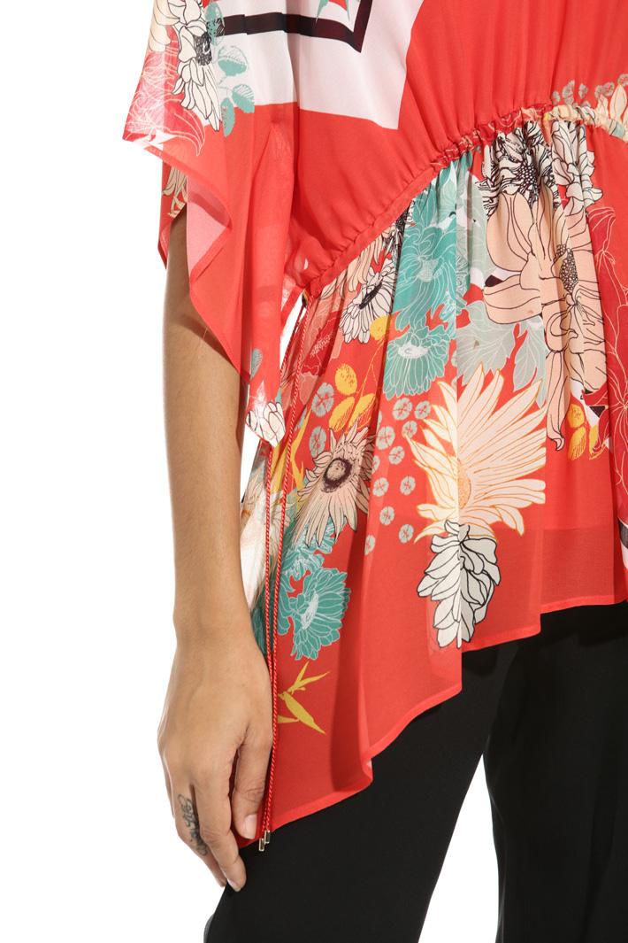Blusa con coulisse in vita Fashion Market