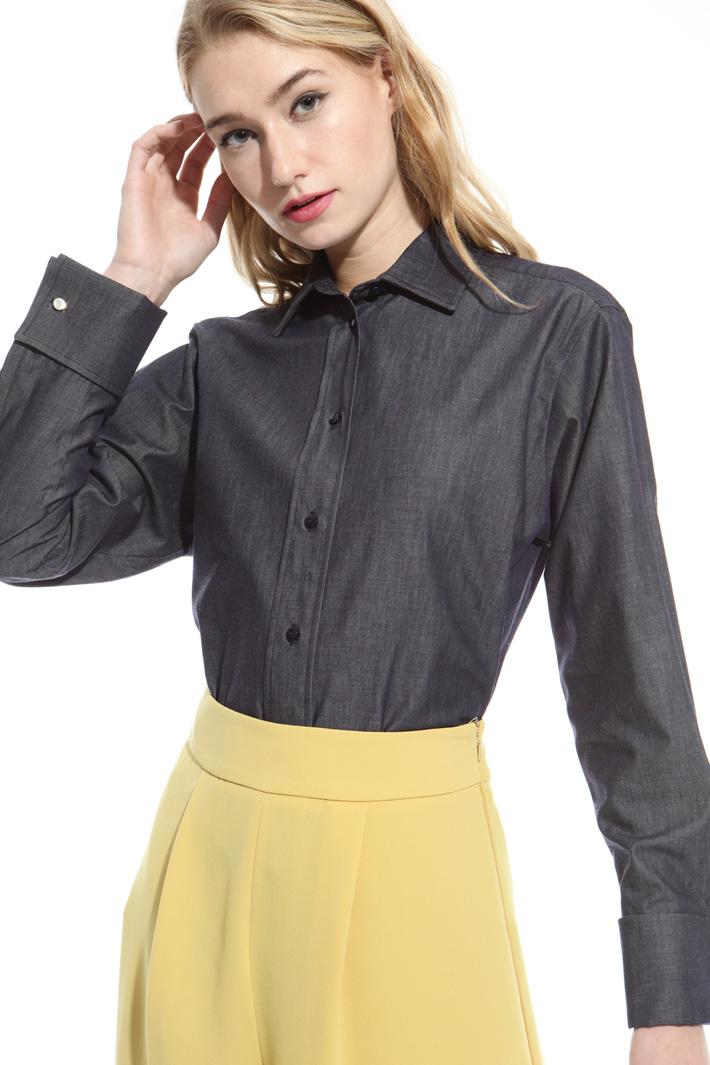 Camicia denim di puro cotone Fashion Market