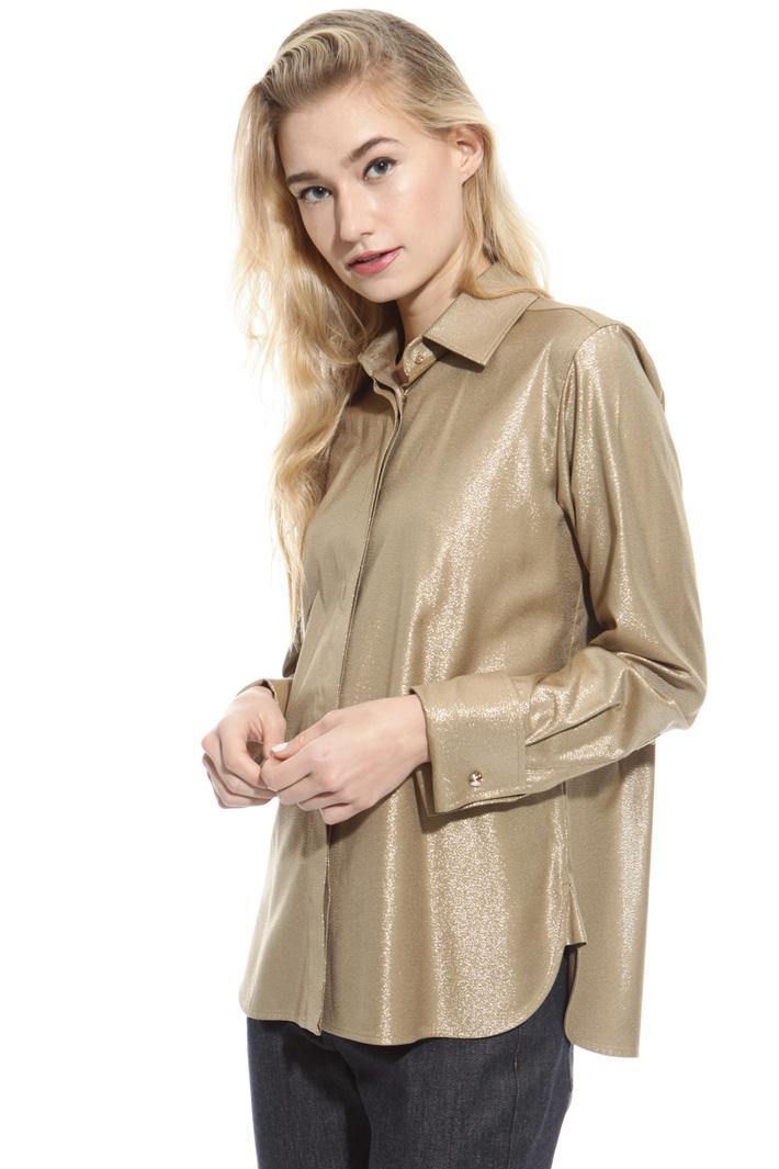 Camicia tessuto metallizzato Fashion Market