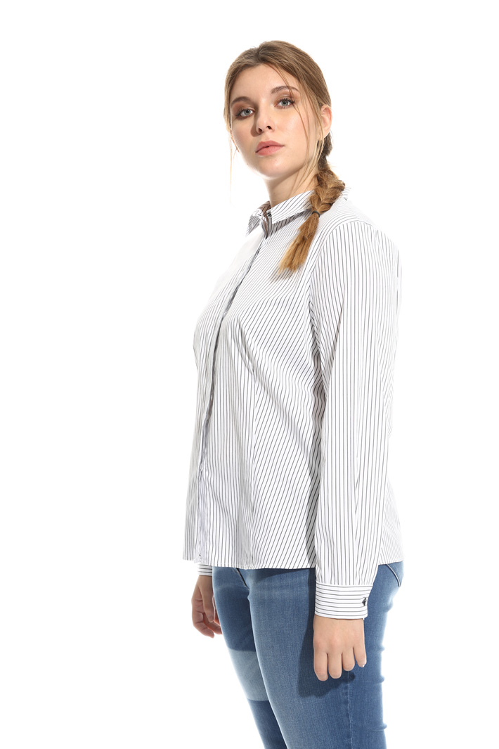 Camicia in cotone tinto filo Fashion Market