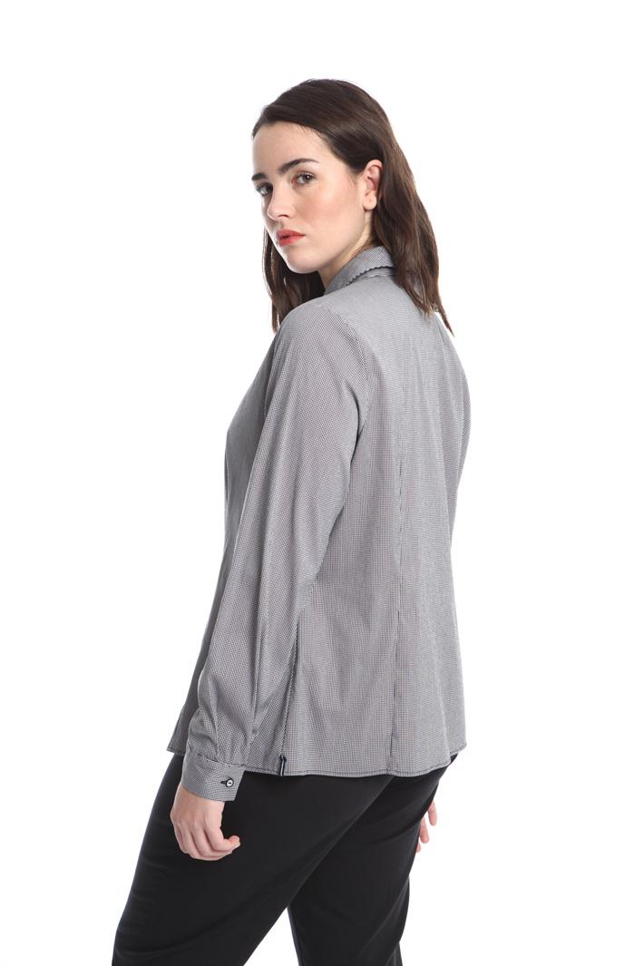 Camicia in cotone tinto filo Fashion Market