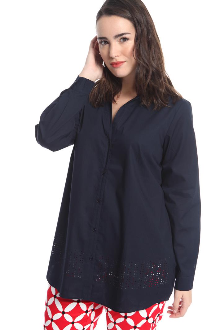 Camicia con motivo traforato Fashion Market