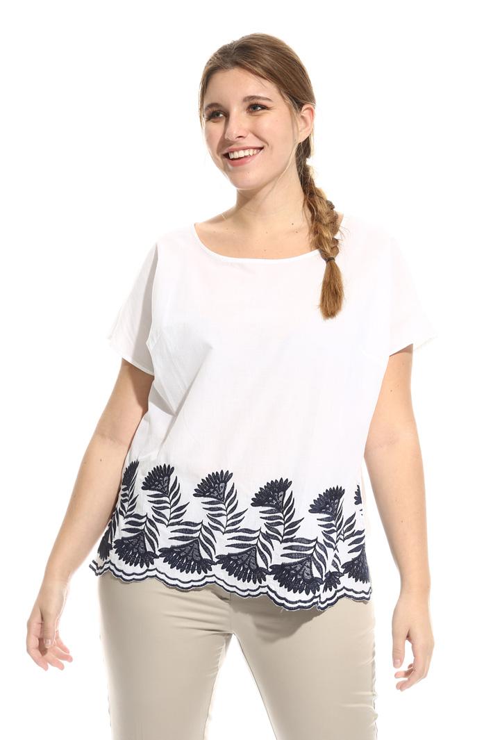 Blusa in cotone ricamato Fashion Market
