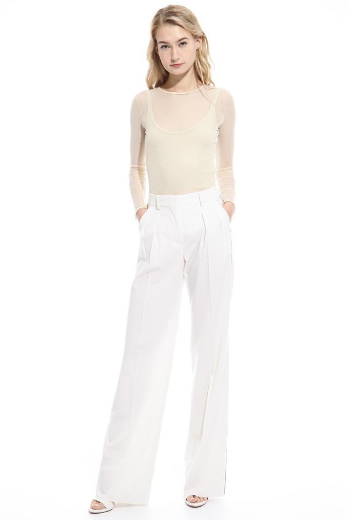 Pantalone dritto in lana Fashion Market
