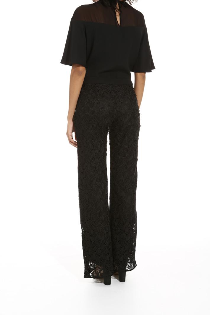 Pantalone in tessuto macramé Fashion Market