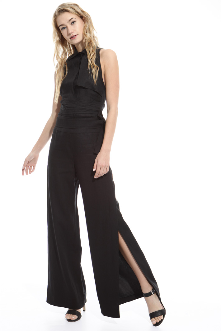 Pantalone ampio con spacchi Fashion Market