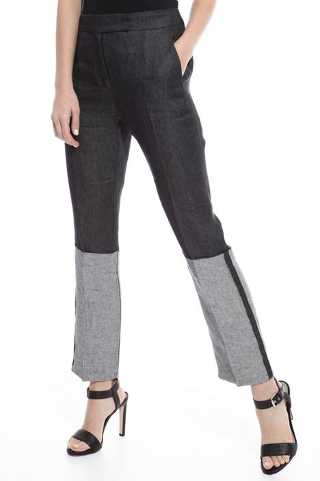 Pantalone in raso di lino Fashion Market