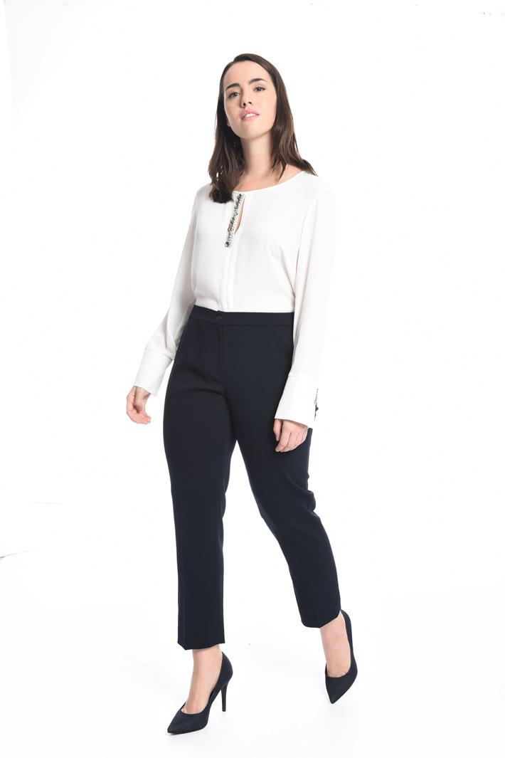 Pantalone in tessuto fluido Fashion Market