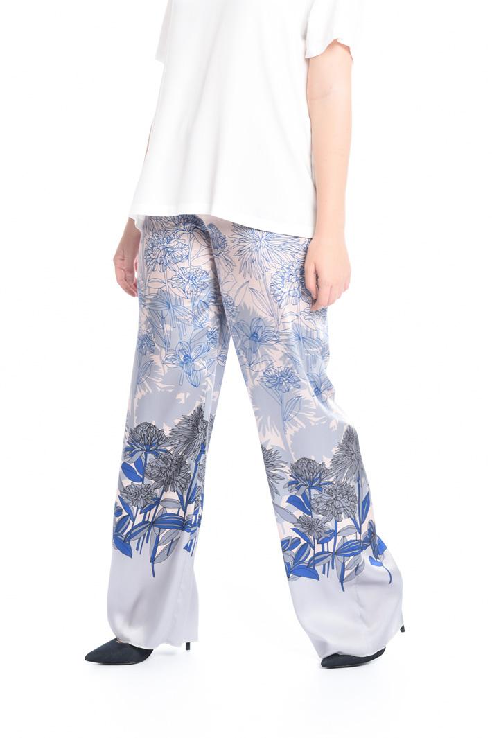 Pantalone palazzo in twill  Fashion Market