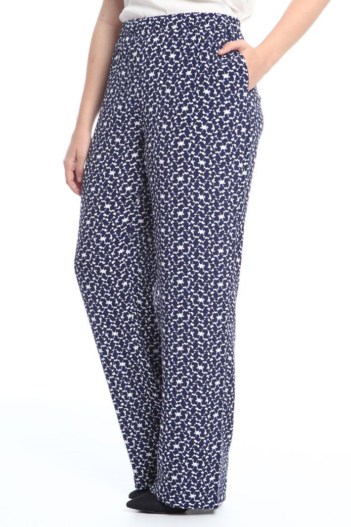 Pantalone in viscosa stampata Fashion Market