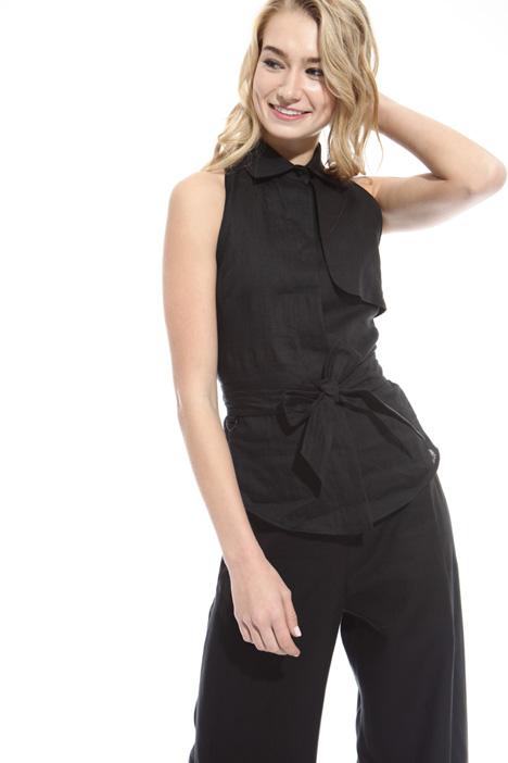Top in puro lino Fashion Market