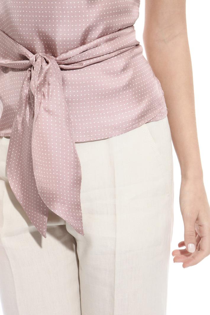 Top a portafoglio in twill Fashion Market