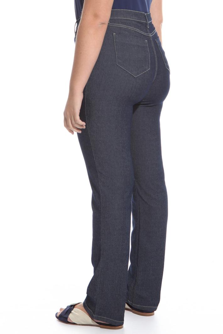 Jeans con cuciture a contrasto Fashion Market