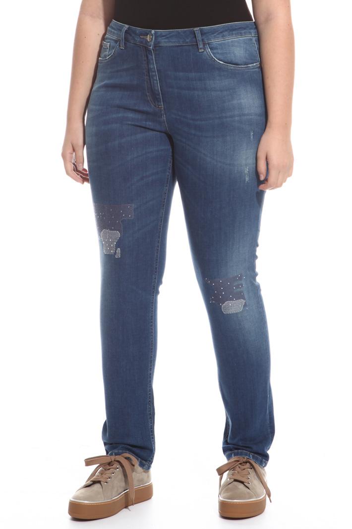 Jeans stretch con strass Fashion Market
