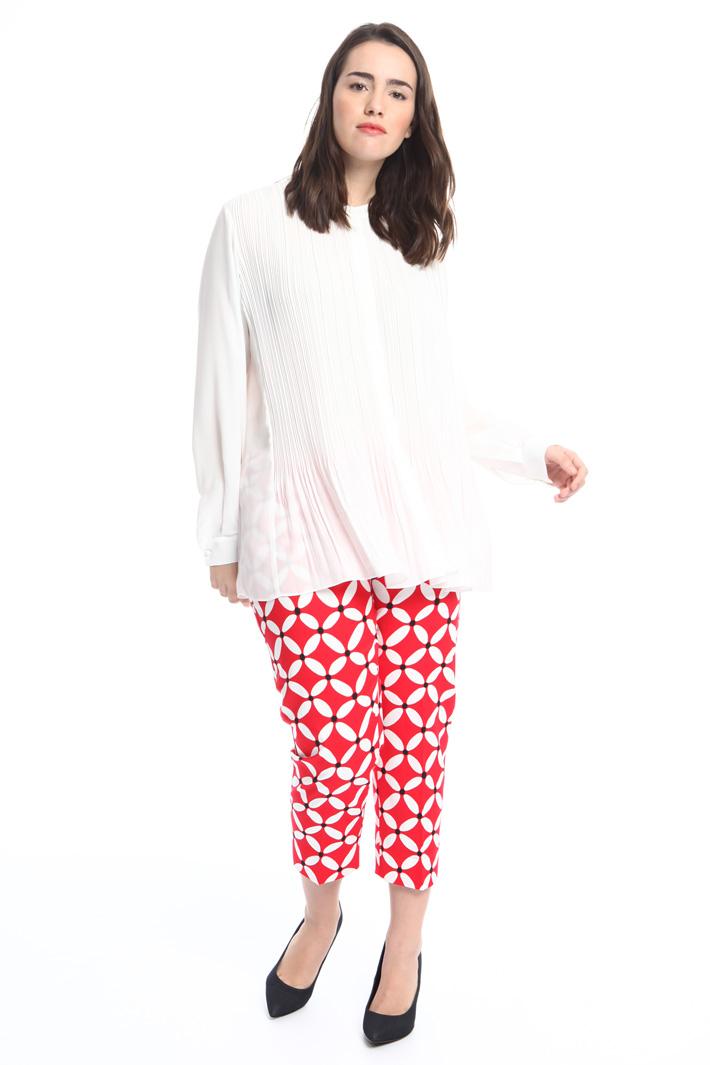 Blusa in fluido plissé  Fashion Market