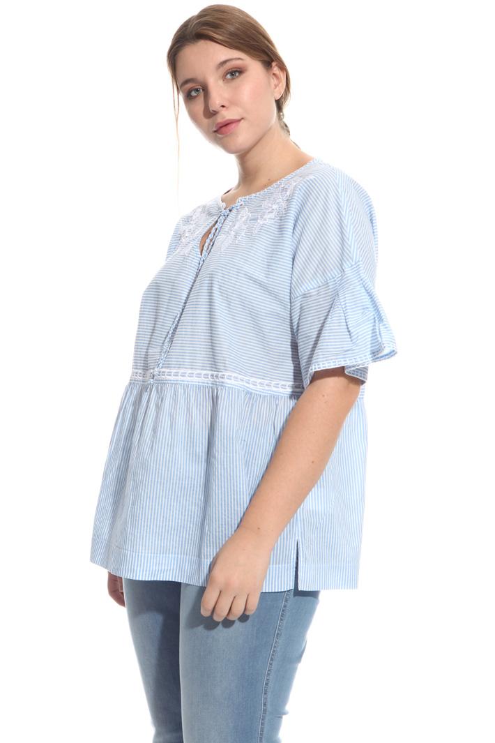 Blusa in voile di cotone Fashion Market