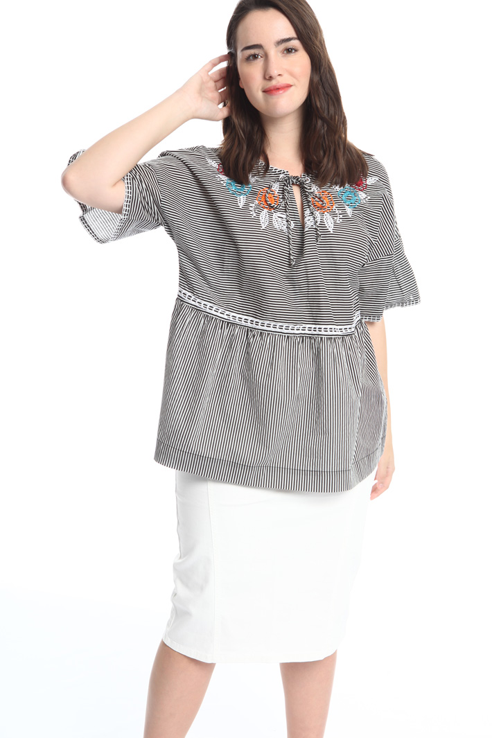 Blusa in voile di cotone Fashion Market
