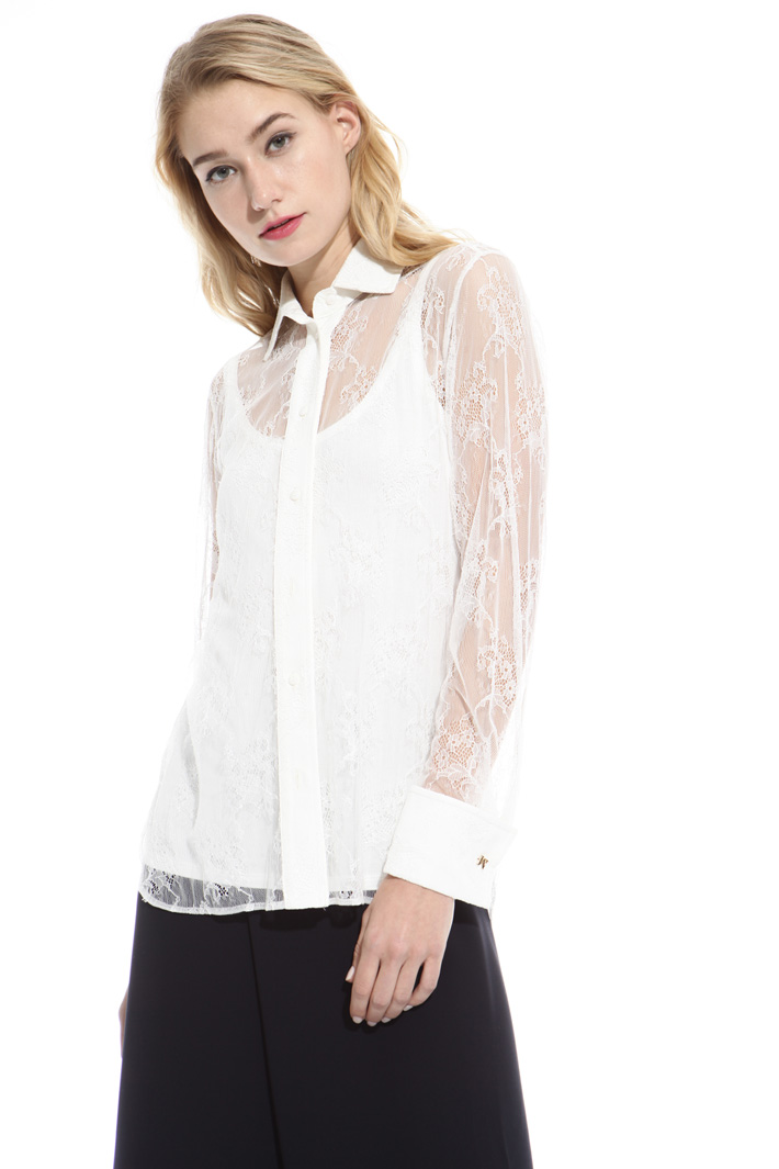 Camicia in pizzo chantilly Fashion Market