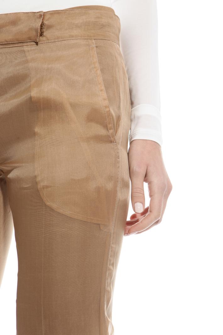 Pantalone in organza di seta Fashion Market
