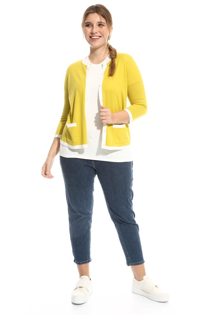 Cardigan misto seta e cotone Fashion Market