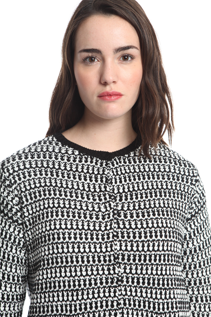 Cardigan in maglia bicolor Fashion Market