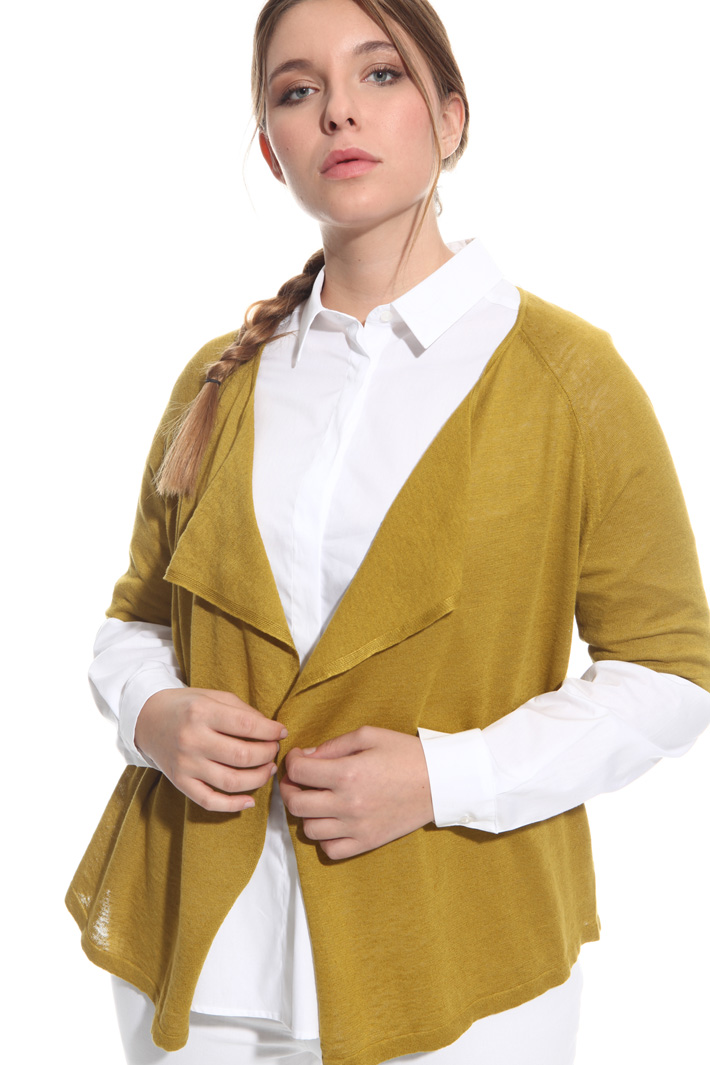 Cardigan in misto lino Fashion Market
