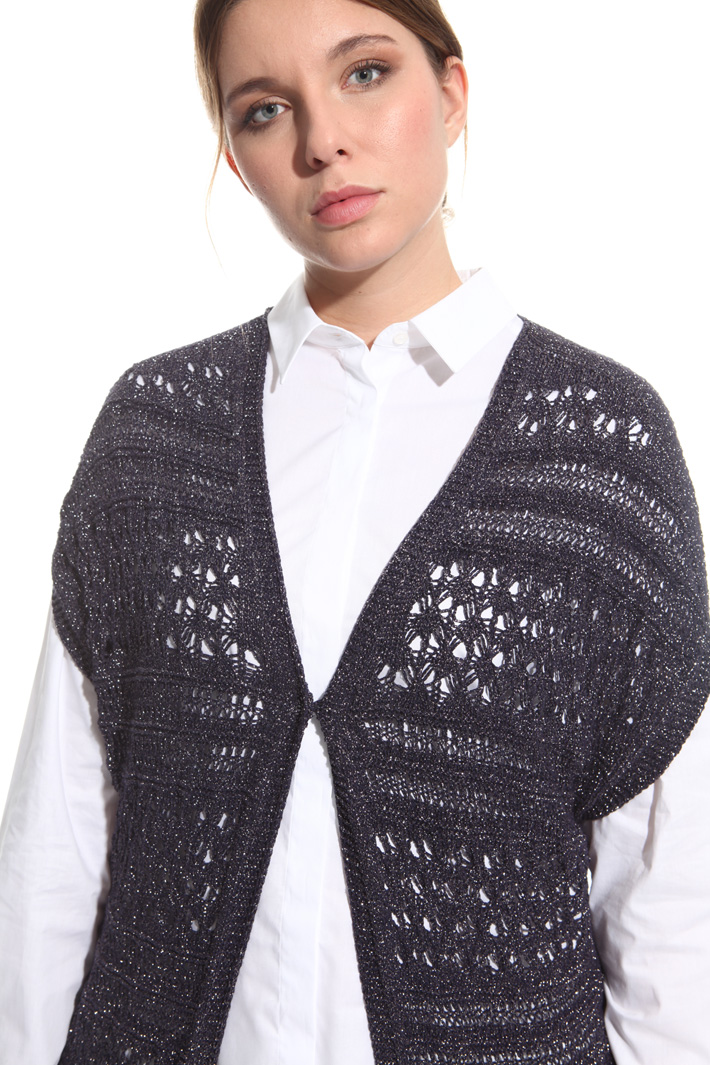 Cardigan crochet lurex Fashion Market