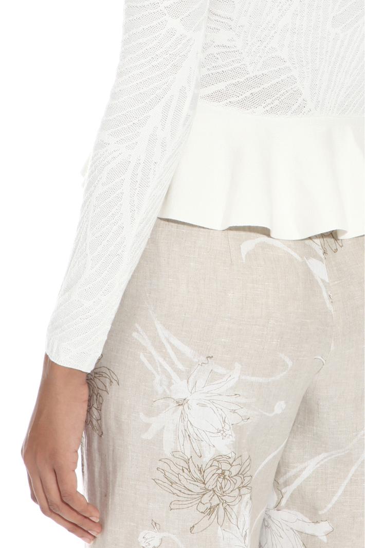 Maglia jacquard con balza Fashion Market