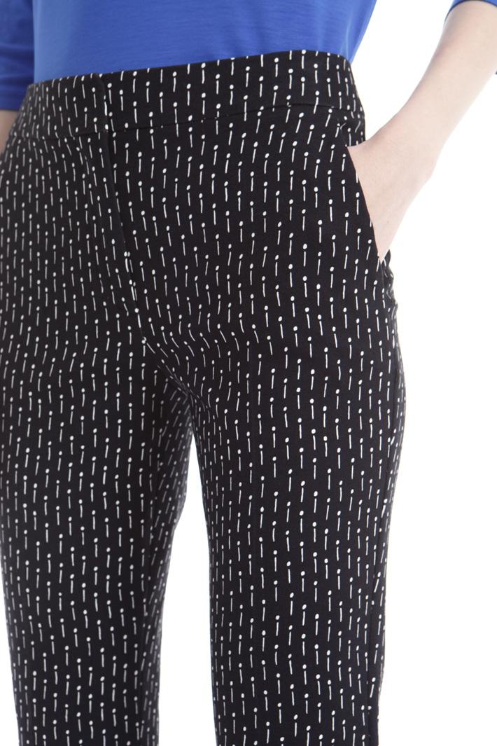 Pantalone a sigaretta cropped Fashion Market