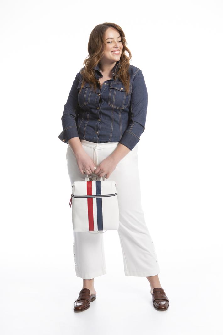 Pantalone cropped in jersey Fashion Market
