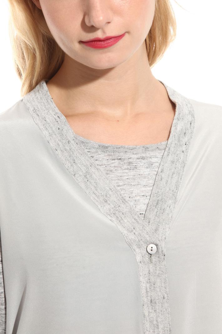 Cardigan in jersey di lino Fashion Market