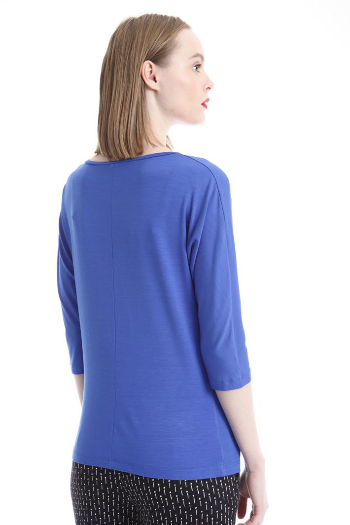 T-shirt con scollo a barchetta Fashion Market