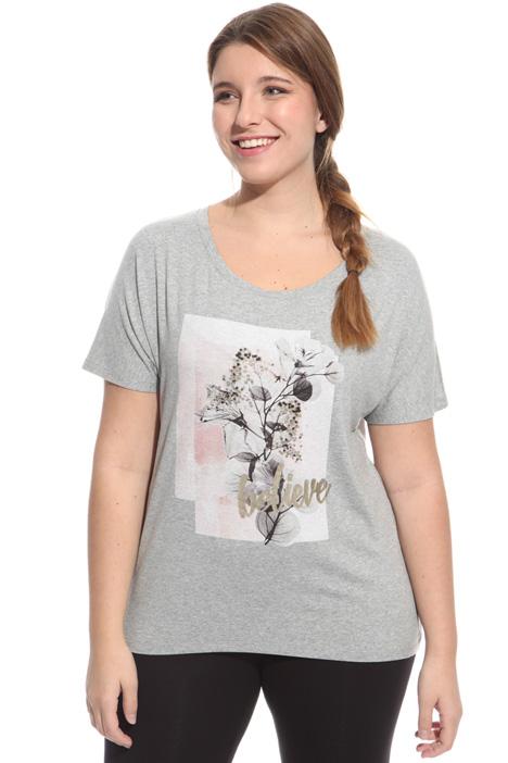 T-shirt con stampa e borchie Fashion Market
