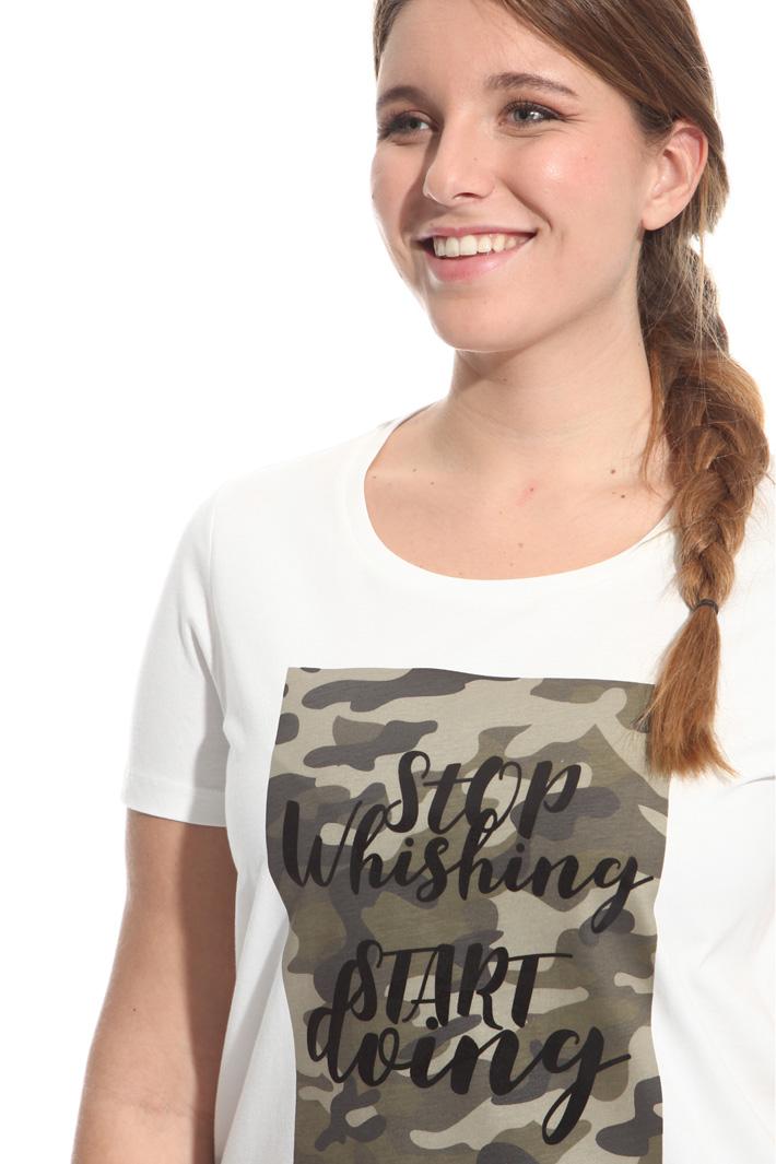 T-shirt in cotone stampato Fashion Market