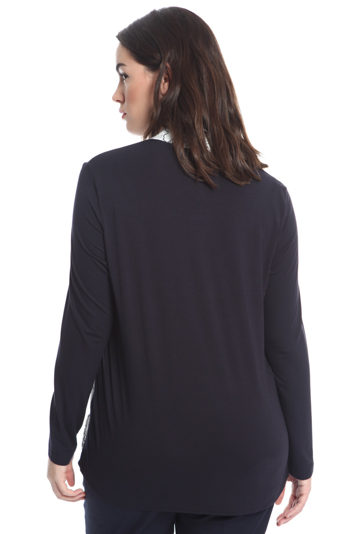 T-shirt in jersey e crepe Fashion Market