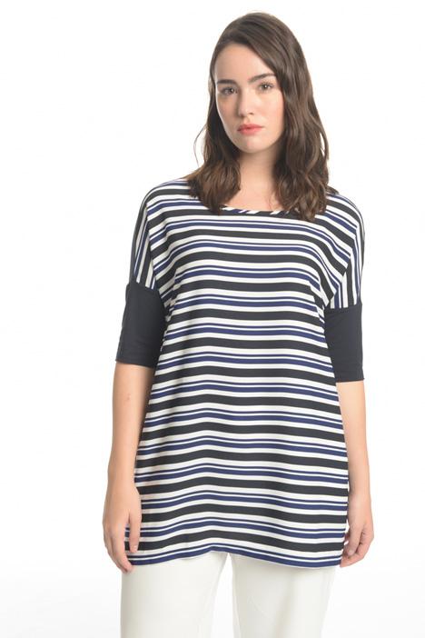 Blusa in jersey e tessuto Fashion Market