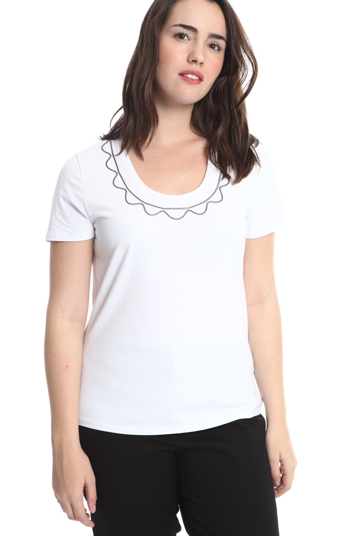 T-shirt con perline ricamate Fashion Market