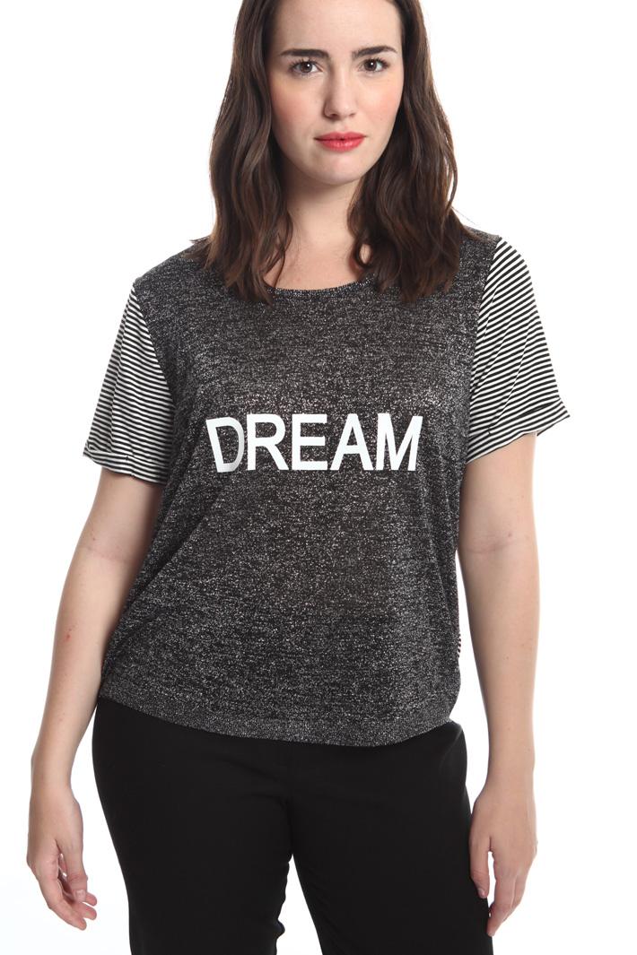 T-shirt in maglia lurex Fashion Market