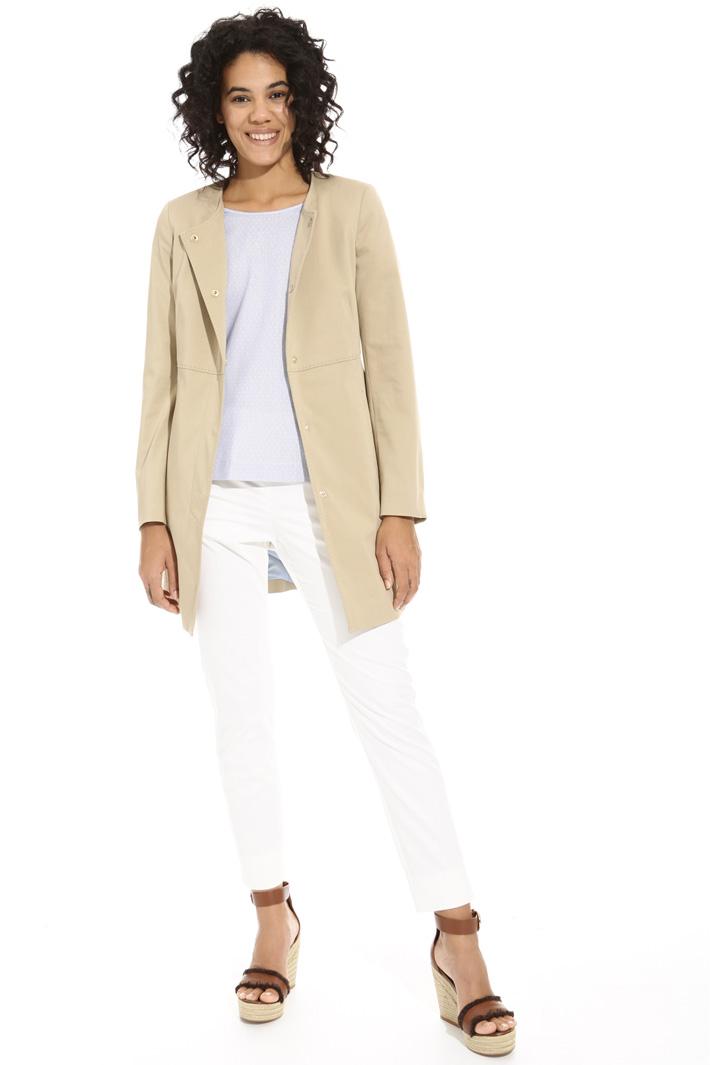 Spolverino in raso di cotone Fashion Market