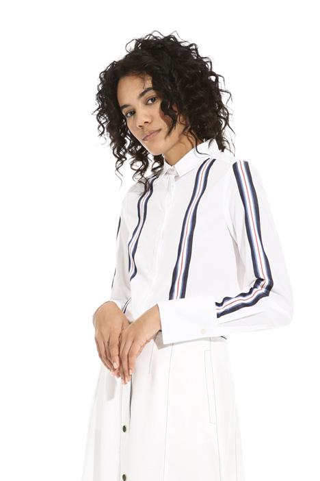 Camicia con righe in raso Fashion Market